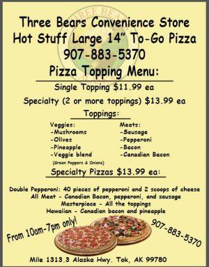 tok pizza menu